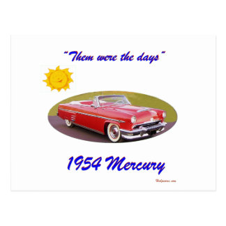 195 4Mercury Postcard