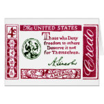 1960 Abraham Lincoln American Credo Cards