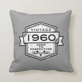 1960 Aged To Perfection Throw Pillows