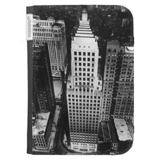 1960:  An aerial view of a Chicago skyscraper Kindle 3G Covers