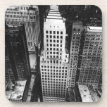 1960:  An aerial view of a Chicago skyscraper Beverage Coaster