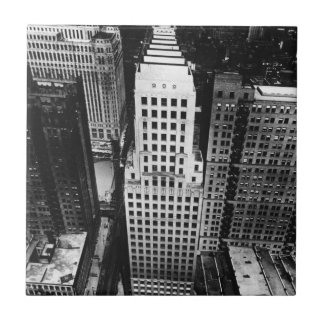 1960:  An aerial view of a Chicago skyscraper Tile