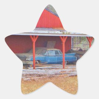 1960 BLUE SADAND DEVILLE Antique car Star Sticker
