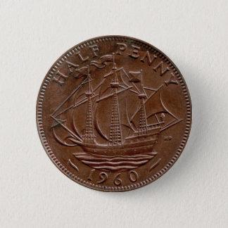 1960 British ha'penny button