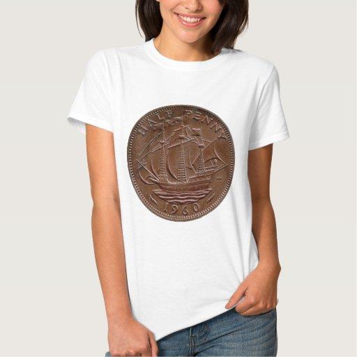 1960 British ha'penny t-shirt