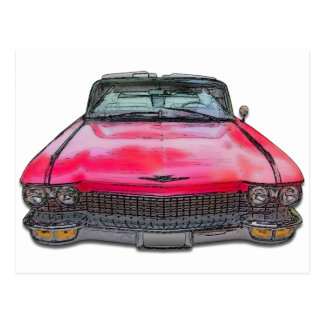 1960 Cadillac Convertible Postcard