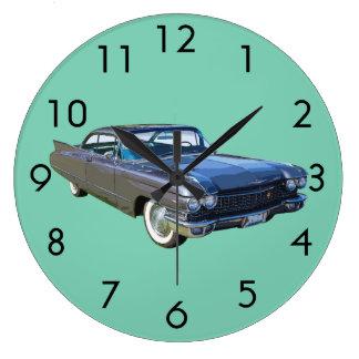 1960 Cadillac Luxury Car Large Clock
