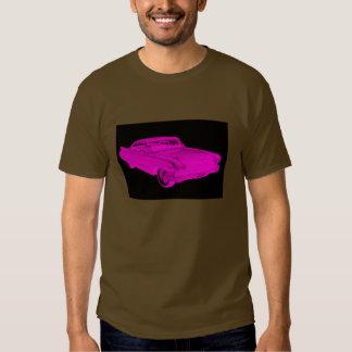 1960 Cadillac Luxury Car Pink and Black Pop Art T-shirts