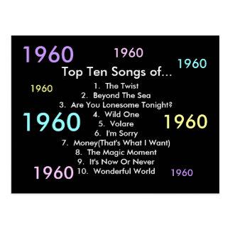 1960 canciones tarjeta postal