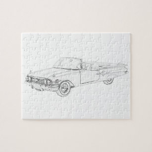vintage chevrolet jigsaw puzzles zazzle 1942 Chevy Coupe 1960 chevy impala jigsaw puzzle