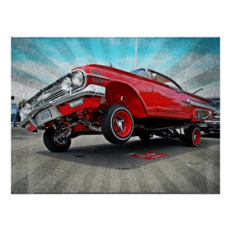 1960 Chevy Impala Lowrider Poster