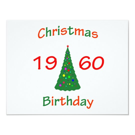 1960 Christmas Birthday Card