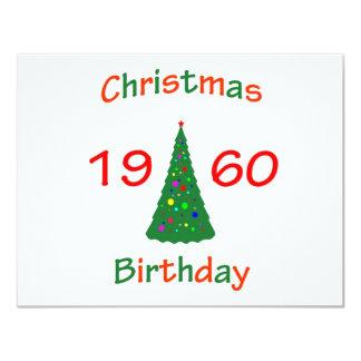 1960 Christmas Birthday Card