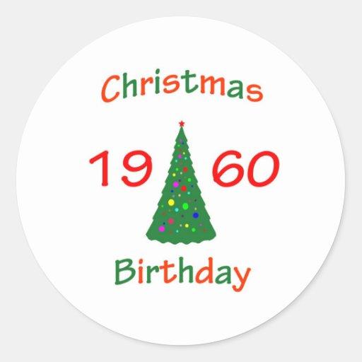 1960 Christmas Birthday Stickers
