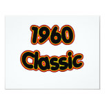 "1960 Classic 4.25"" X 5.5"" Invitation Card"