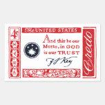 1960 Frances Scott Key American Credo Stickers