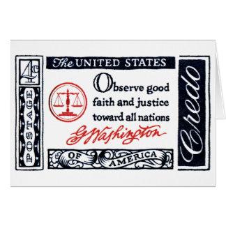 1960 George Washington American Credo Card