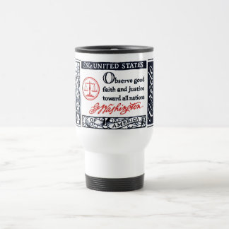 1960 George Washington American Credo Travel Mug