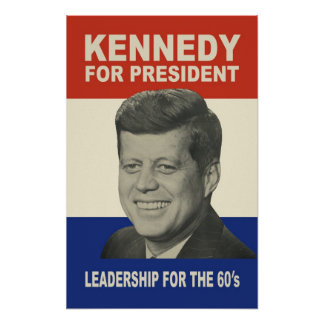 1960 Kennedy For President Poster (Up to 39 x 60!)