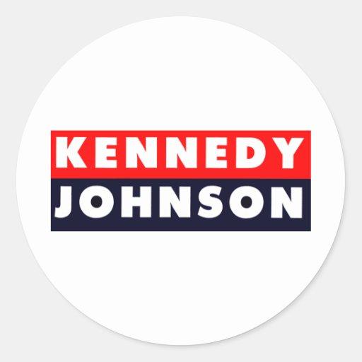 1960 Kennedy Johnson Bumper Sticker