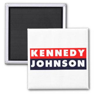 1960 Kennedy Johnson Bumper Sticker 2 Inch Square Magnet