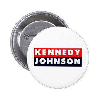 1960 Kennedy Johnson Bumper Sticker Button