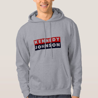 1960 Kennedy Johnson Bumper Sticker Hoodie