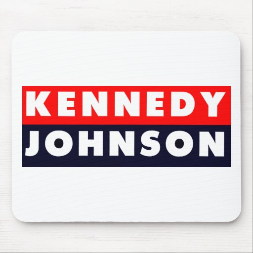 1960 Kennedy Johnson Bumper Sticker Mouse Pad