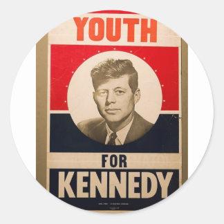 1960 Kennedy Round Stickers