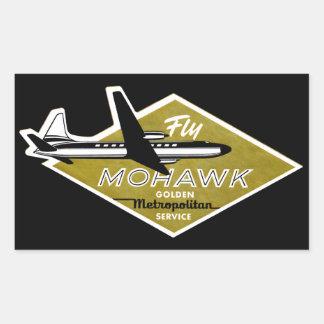 1960 Mohawk Airlines II Rectangular Sticker