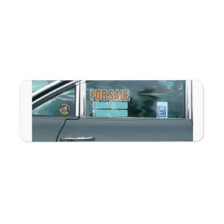 1960 Oldsmobile Dynamic 88 side view for sale sign Label