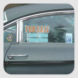 1960 Oldsmobile Dynamic 88 side view for sale sign Square Sticker