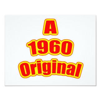 1960 Original Red Card