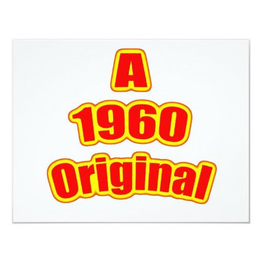1960 Original Red Custom Invitation