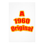 1960 Original Red Personalized Stationery