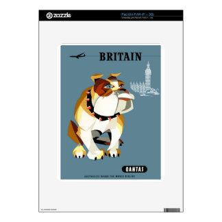 1960 Qantas Britain Bulldog Travel Poster Skin For The iPad