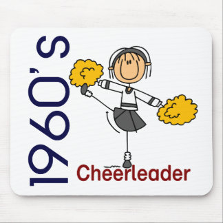 1960's Cheerleader Stick Figure Mouse Pad