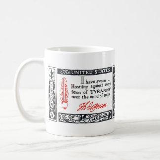 1960 Thomas Jefferson American Credo Coffee Mug