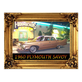 1960PlymouthWithFrameAndText2LG.JPG Postcard