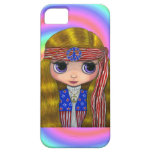 1960s, 1970s Hippie Chick in Stars and Stripes iPhone 5 Cover