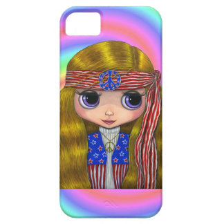 1960s, 1970s Hippie Chick in Stars and Stripes iPhone SE/5/5s Case