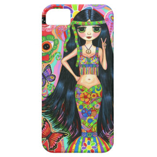 1960s, 1970s Psychedelic Hippie Mermaid Girl iPhone SE/5/5s Case