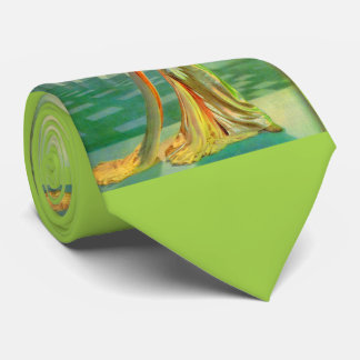 1960s beautiful lady in evening gown neck tie