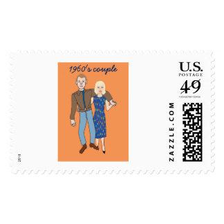 1960's couple postage