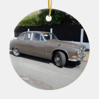 1960s Daimler Sovereign Double-Sided Ceramic Round Christmas Ornament