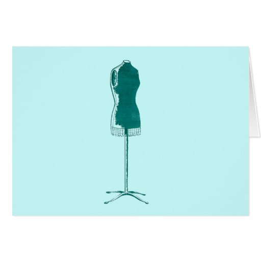 1960s Fashion Retro quirky dress form Greeting Card