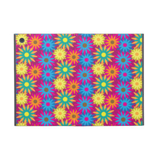 1960s Flower Power Colorful Floral Modern Pattern Cover For iPad Mini