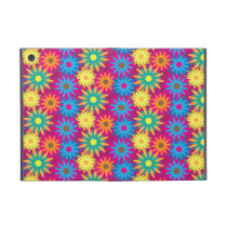 1960s Flower Power Colorful Floral Modern Pattern iPad Mini Case