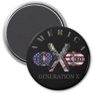 1960s Generation X American Skateboard Magnet