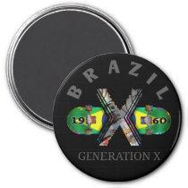 1960s Generation X Brazilian Skateboard Magnet
